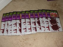 "NEW HALLOWEEN ""BLOOD SPLATS"" 3D GEL CLING ONS SET OF 10 in Camp Lejeune, North Carolina"