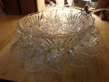Glass punch bowl set in Naperville, Illinois