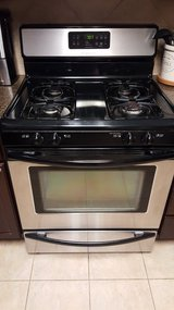 Stainless gas stove in Baytown, Texas
