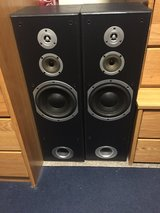 "KLH 8"" 3 Way Floorstanding Tower 150 Watt Max Power BTF-660 Speakers (Set of 2) in San Clemente, California"