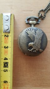 Eagle pocket watch with chain. in Baumholder, GE