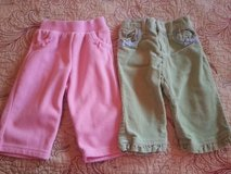 Lot of 2 infant baby girls fall winter pants 6-9 months Circo Children's Place cute!! in Fort Leonard Wood, Missouri
