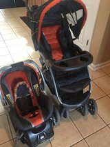 **Car seat with base and stroller** in Warner Robins, Georgia