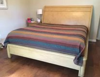 Sleigh Bed Set-King Like New in Houston, Texas
