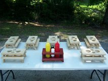 Custom Handmade Mini Picnic Table Condiment Holders in Warner Robins, Georgia
