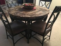 Marble Table w/ 4  iron chairs in Alvin, Texas