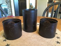 (NEW) Tin Punched Star Trio Candle Holders in Chicago, Illinois