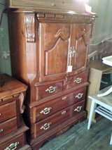 Carved Wood Chest Dresser/ Armoire (2201-173) in Camp Lejeune, North Carolina