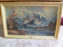 "Vintage/Antique Wilmer painting "" Snow Capped Peaks"" in Elgin, Illinois"