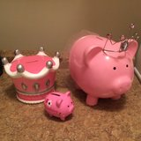 Set of 3 Piggy Banks ~ Pink Princess in Warner Robins, Georgia