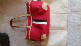 Red Coach Overnight/Diaper Bag w/ Changing Pad in Glendale Heights, Illinois