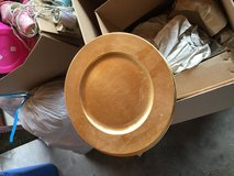 Gold platters in Fort Bliss, Texas