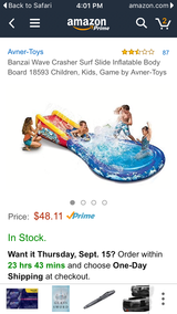 Inflatable water slide for kids pools in Beaufort, South Carolina