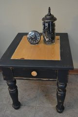 Rustic Industrial Shabby Distressed End AccentTable with drawer in Joliet, Illinois