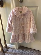 4t Widgeon pink fluffy coat EUC in Oswego, New York