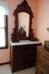 Victorian Dresser with marble top in Glendale Heights, Illinois