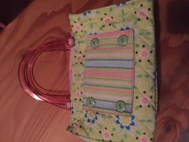 Fabric purse with acrylic handles in Plainfield, Illinois
