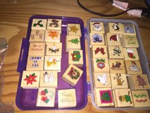 Christmas rubber stamps in Naperville, Illinois