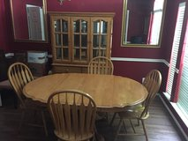Solid Oak Dining Room Table and Matching  Hutch in Kingwood, Texas