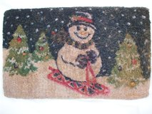Snowman door mat in Ramstein, Germany
