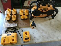 Dewalt job site Radio with batteries and Flashlight in Conroe, Texas