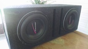 2 10' Audiobahn subs in box in Moody AFB, Georgia