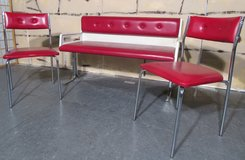 1950s Diner Bench and Two Chairs in Ramstein, Germany