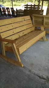solid wood benches and rockers in Leesville, Louisiana