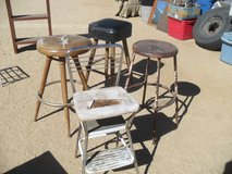 ~~  Assorted Old Stools  ~~ in Yucca Valley, California