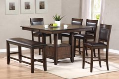 "SALE! 30-50% OFF RETAIL! Upscale ""Manhattan"" Pub dining set with 4 chairs, bench + Butterfly lea... in Camp Pendleton, California"