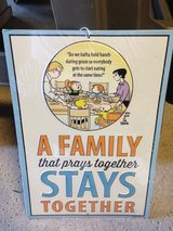 Family that Prays Together Metal Sign (NEW) in Bolingbrook, Illinois