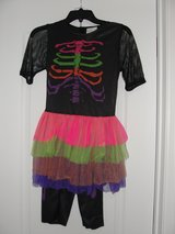 "GIRLS ""RAINBOW SKELETON"" HALLOWEEN COSTUME SIZE 10/12 in Camp Lejeune, North Carolina"