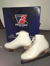 White Leather Riedell  Ice Skates in Plano, Texas