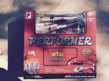 MINI RC HELICOPTER - PERFORMER 735-58C RED/WHITE in Glendale Heights, Illinois