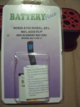 "Nokia 6750 Mural, E51, N81, 6350 Flip, rep[lacement battery Model: BL1-1145-7 ""NEW"" in Perry, Georgia"