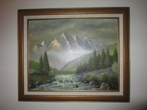 Mountain scene Oil painting by Olshof in Naperville, Illinois