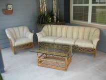 Ratan Living Room Set!! Excellent Condition in Livingston, Texas