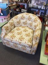 Mid Century Modern Floral Swivel Accent Chair in Bartlett, Illinois