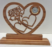 Hand Crafted Hearts and Rose Clock in Fort Leonard Wood, Missouri