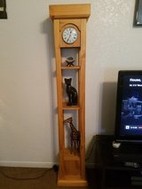 Real wood clock in Fort Hood, Texas