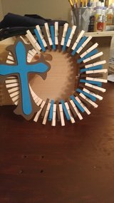 Clothespin Wreath in Beaufort, South Carolina