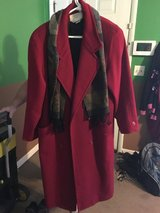 Red dress coat in Fort Campbell, Kentucky