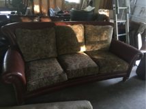 Leather and fabric sofa in Hinesville, Georgia