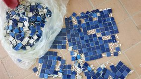 680 pieces of small tile in Okinawa, Japan