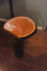 Homemade. Wooden Log Fairy End Table in Ruidoso, New Mexico
