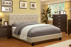 INVENTORY SALE!! LINEN TUFTED QUEEN PLATFORM BEDFRAME!! NEW!! in Camp Pendleton, California