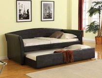 NEW!! LEATHER SOFA DAYBED WITH TRUNDLE!! in Vista, California