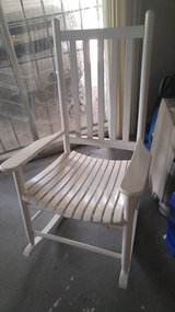 White rocking chair in The Woodlands, Texas