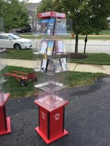 6' tall ROTATING DISPLAY TOWER,display case,USED FOR TOKYOPOP BUT CAN BE USED FOR DVDS,BLU RAYS,... in Batavia, Illinois