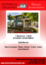 Beautiful Apartment  1 Bedroom 1 Bath Student Apartment in Fort Campbell, Kentucky